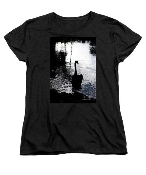 Women's T-Shirt (Standard Cut) featuring the photograph Black Swan by Roselynne Broussard