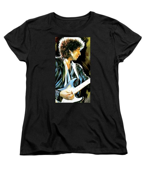 Bob Dylan Artwork 2 Women's T-Shirt (Standard Cut) by Sheraz A
