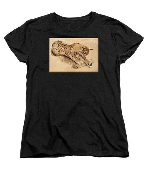 Bobcat And Friend Women's T-Shirt (Standard Cut) by Ron Haist