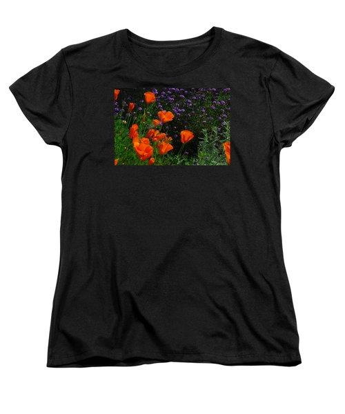 Women's T-Shirt (Standard Cut) featuring the photograph California Poppies by Lynn Bauer