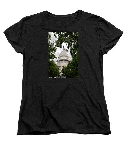 Clouds Over The Capitol Women's T-Shirt (Standard Cut) by Lawrence Boothby