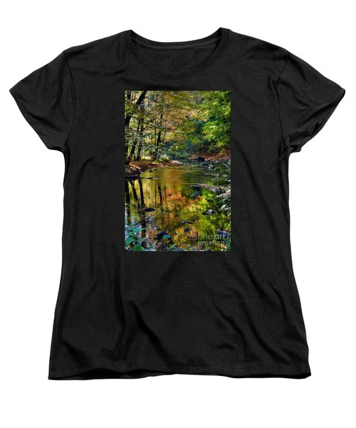 Women's T-Shirt (Standard Cut) featuring the photograph Color Creek by Robert Pearson