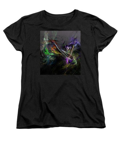 Women's T-Shirt (Standard Cut) featuring the digital art Conflict by David Lane