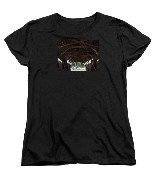 Covered Bridge Women's T-Shirt (Standard Cut) by Catherine Gagne