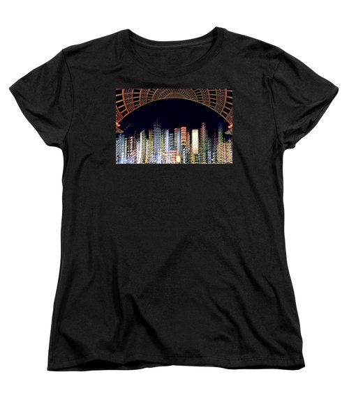 Women's T-Shirt (Standard Cut) featuring the photograph Dallas At Night by David Perry Lawrence