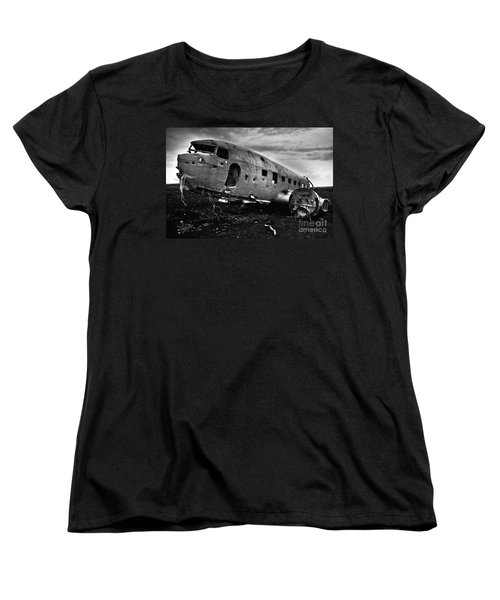 Women's T-Shirt (Standard Cut) featuring the photograph Dc-3  by Gunnar Orn Arnason