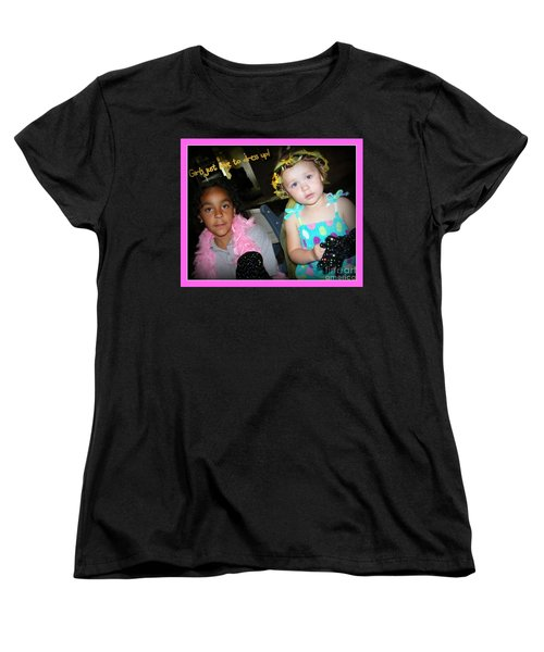 Women's T-Shirt (Standard Cut) featuring the photograph Dress-up Time by Bobbee Rickard