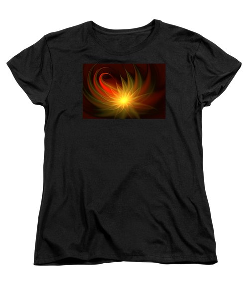 Exotic Flower Women's T-Shirt (Standard Cut) by Svetlana Nikolova