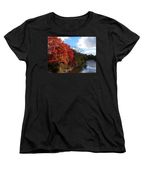 Fall At The Credit River Women's T-Shirt (Standard Cut) by Pema Hou