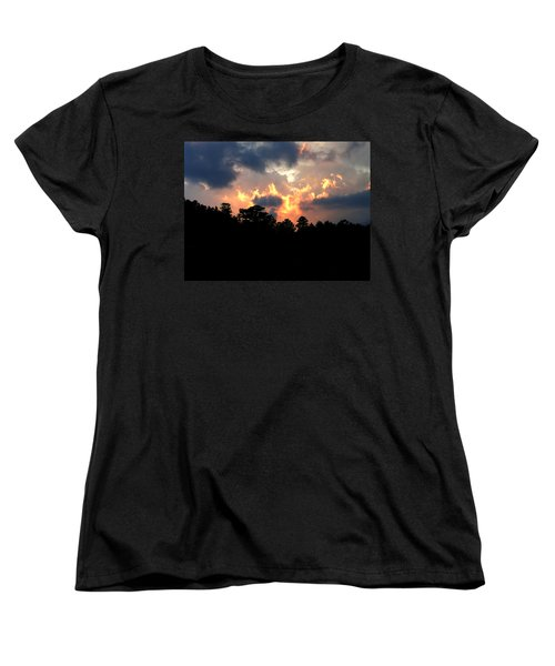 Women's T-Shirt (Standard Cut) featuring the photograph Fire In The Sky by Craig T Burgwardt