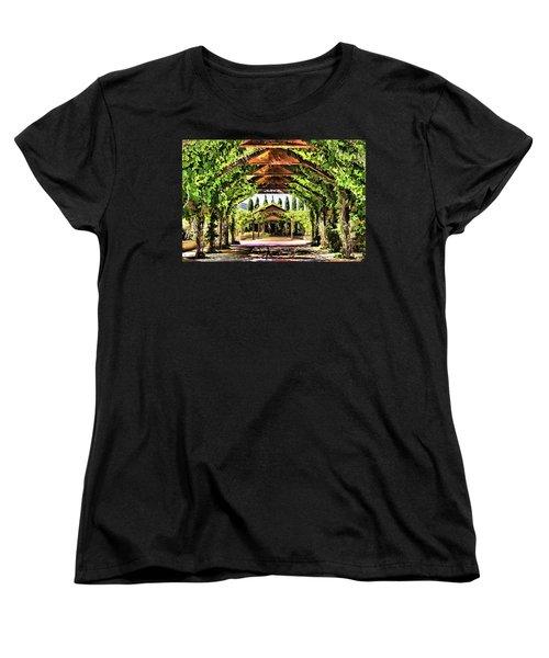 Women's T-Shirt (Standard Cut) featuring the painting Garden by Muhie Kanawati