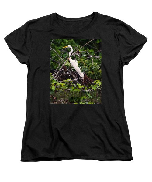 Great White Egret Women's T-Shirt (Standard Cut)