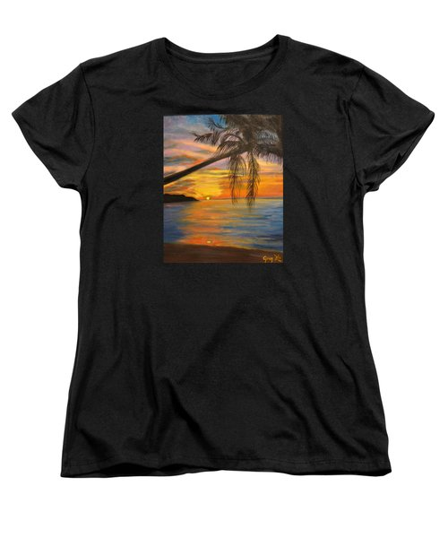 Women's T-Shirt (Standard Cut) featuring the painting Hawaiian Sunset 11 by Jenny Lee