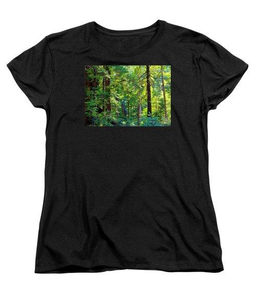 Hoh Rain Forest Women's T-Shirt (Standard Cut) by Jeanette C Landstrom