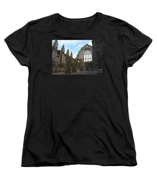Holyrood Abbey Ruins Women's T-Shirt (Standard Cut) by DejaVu Designs