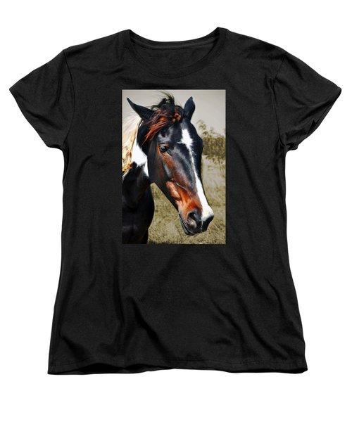 Women's T-Shirt (Standard Cut) featuring the photograph Horse by Savannah Gibbs