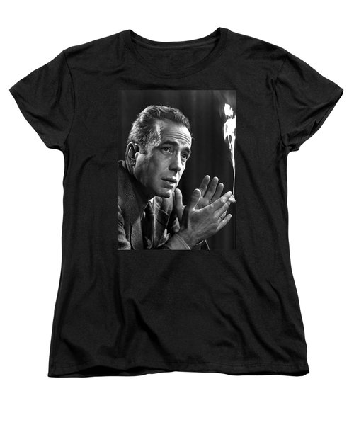 Humphrey Bogart Portrait 2 Karsh Photo Circa 1954-2014 Women's T-Shirt (Standard Cut) by David Lee Guss