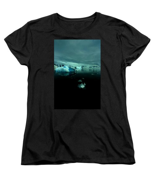 Women's T-Shirt (Standard Cut) featuring the photograph Icebergs by Amanda Stadther