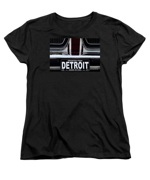 Imported From Detroit Women's T-Shirt (Standard Cut) by Dennis Hedberg