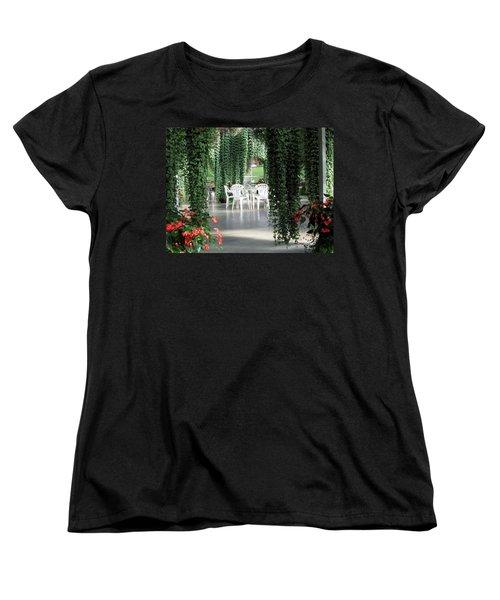 Women's T-Shirt (Standard Cut) featuring the photograph Juneau Glacier Gardens by Jennifer Wheatley Wolf