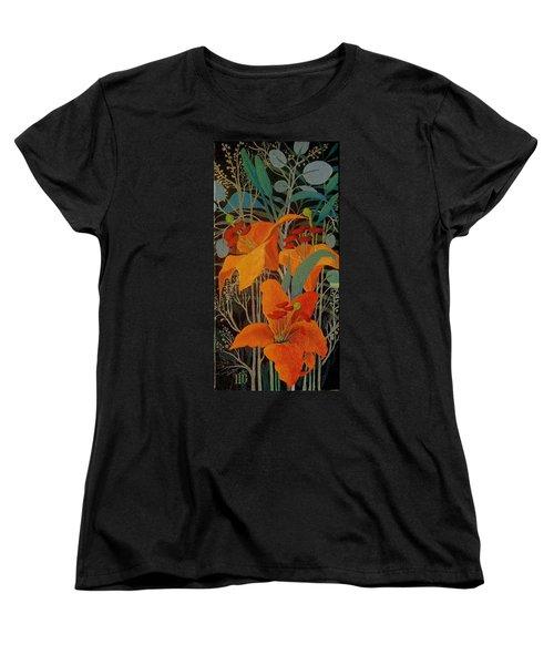 Lilies Women's T-Shirt (Standard Cut) by Marina Gnetetsky