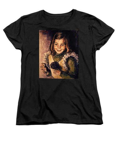Women's T-Shirt (Standard Cut) featuring the painting Luisa Fernanda by Walter Casaravilla
