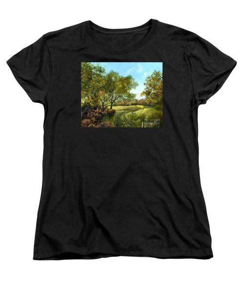 Women's T-Shirt (Standard Cut) featuring the painting Luray Pasture by Lynne Wright