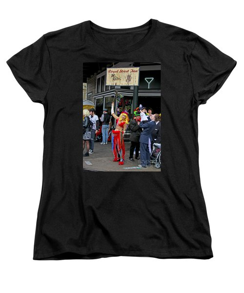 French Quarter Mardi Gras Women's T-Shirt (Standard Cut) by Luana K Perez