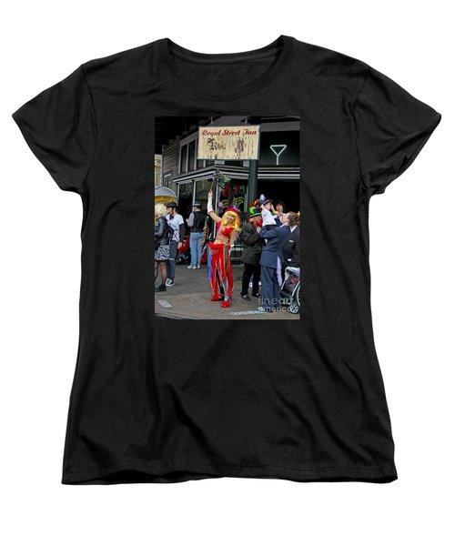 Women's T-Shirt (Standard Cut) featuring the photograph French Quarter Mardi Gras by Luana K Perez
