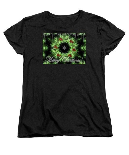 Merry Christmas Women's T-Shirt (Standard Cut) by Robert Orinski