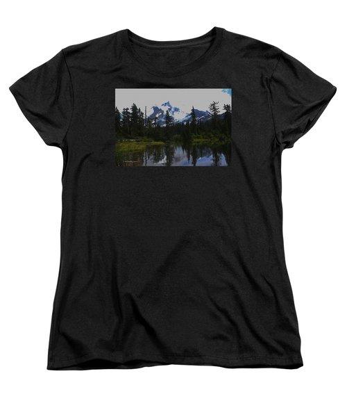 Mt Baker Washington  Women's T-Shirt (Standard Cut) by Tom Janca