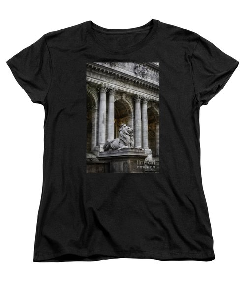 Ny Library Lion Women's T-Shirt (Standard Cut) by Jerry Fornarotto