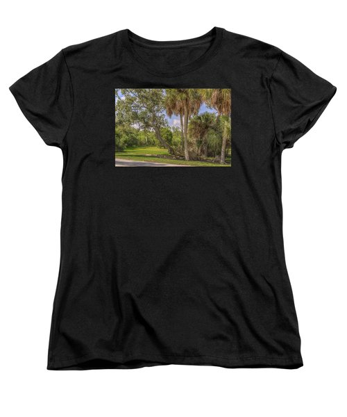 Women's T-Shirt (Standard Cut) featuring the photograph Oak Trees by Jane Luxton