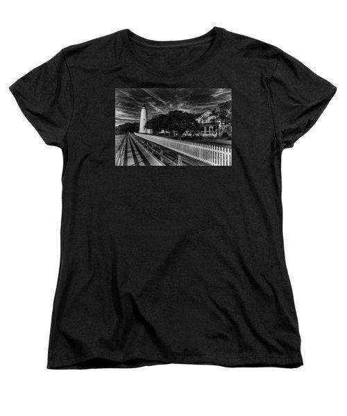 Ocracoke Lighthouse Women's T-Shirt (Standard Cut) by Tony Cooper