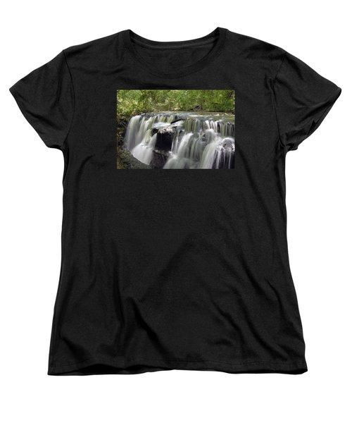 Odom Creek Waterfall Georgia Women's T-Shirt (Standard Cut) by Charles Beeler