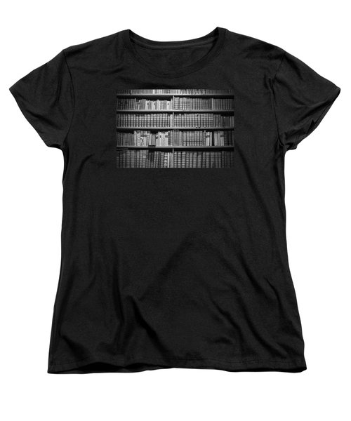 Women's T-Shirt (Standard Cut) featuring the photograph Old Books by Chevy Fleet