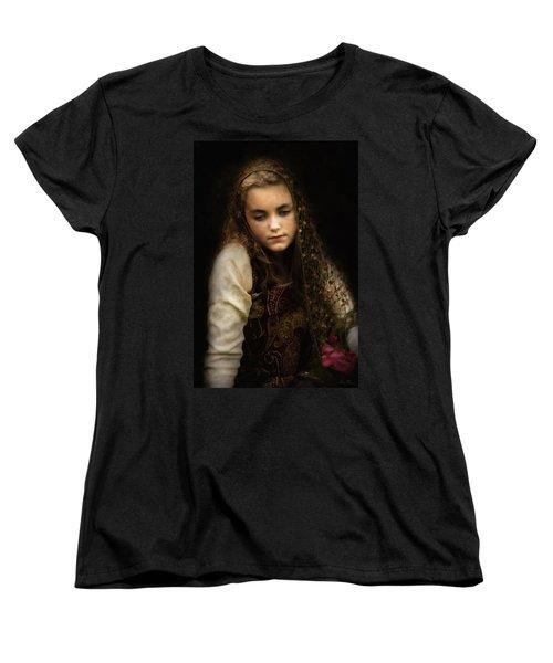 Women's T-Shirt (Standard Cut) featuring the photograph Olivia by John Rivera