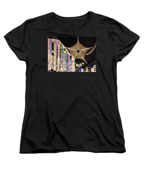 Women's T-Shirt (Standard Cut) featuring the painting Oxford Street London 2011 by Carol Flagg