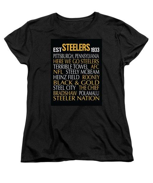 Pittsburgh Steelers Women's T-Shirt (Standard Cut) by Jaime Friedman
