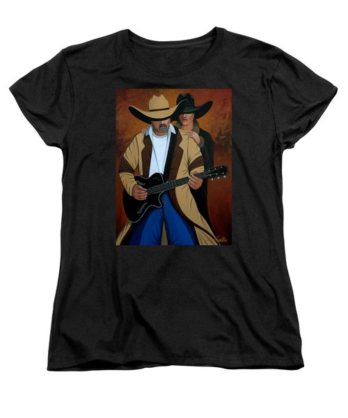 Play A Song For Me Women's T-Shirt (Standard Cut) by Lance Headlee