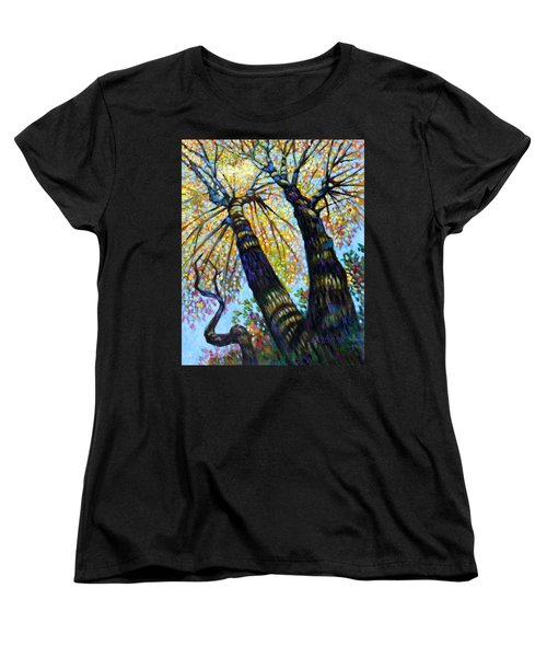 Reaching For The Light Women's T-Shirt (Standard Cut) by John Lautermilch