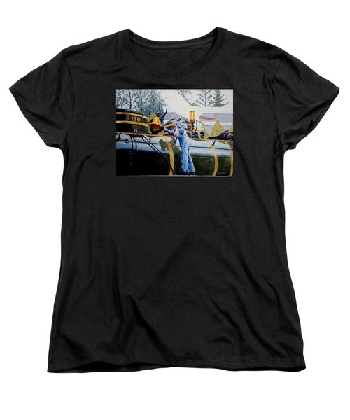Women's T-Shirt (Standard Cut) featuring the painting Reflecting On Tweetsie by Stacy C Bottoms