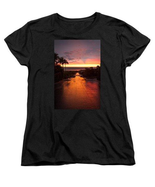 Sunset After Rain Women's T-Shirt (Standard Cut) by Denise Bird