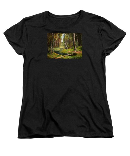 Silence Of The Forest Women's T-Shirt (Standard Cut) by Kate Black