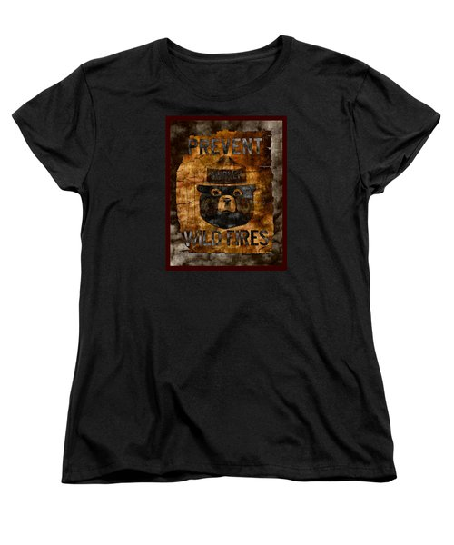 Smokey The Bear Only You Can Prevent Wild Fires Women's T-Shirt (Standard Cut) by John Stephens