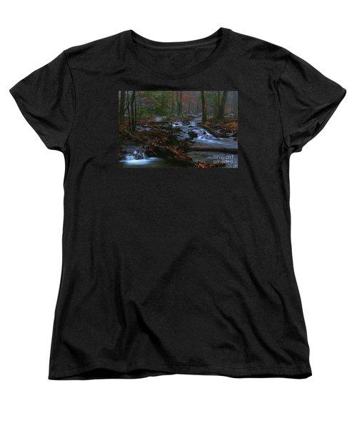 Smoky Mountain Color Women's T-Shirt (Standard Cut)