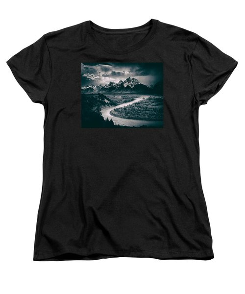 Snake River In The Tetons - 1930s Women's T-Shirt (Standard Cut) by Mountain Dreams