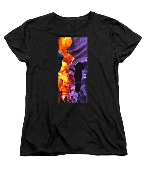 Women's T-Shirt (Standard Cut) featuring the photograph Somewhere In America Series - Antelope Canyon by Lilia D