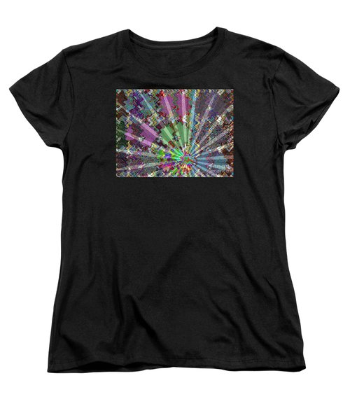 Sparkle Focus Graphic Chakra Mandala By Navinjoshi At Fineartamerica.com Fineart Posters N Pod Gifts Women's T-Shirt (Standard Cut) by Navin Joshi