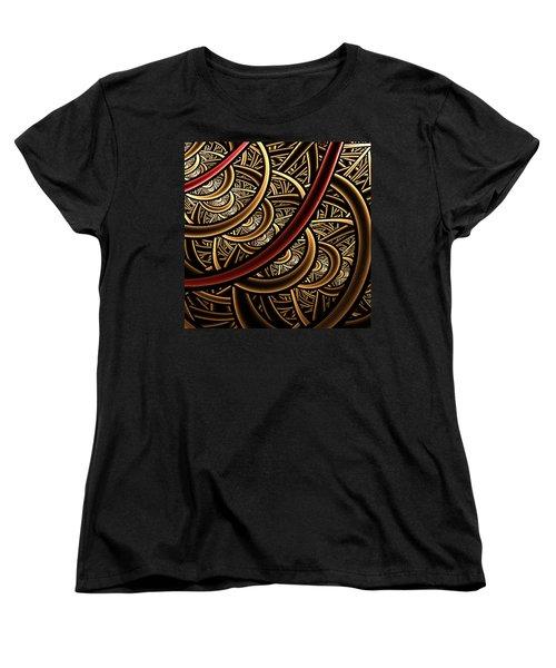 Women's T-Shirt (Standard Cut) featuring the digital art Stairways by Ester  Rogers